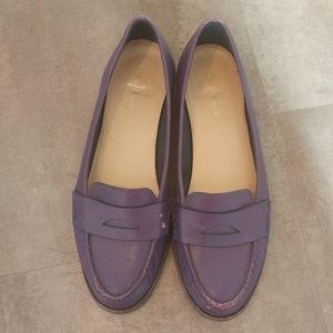 Cole Haan Purple Nike Air Monroe Penny Loafer Flat